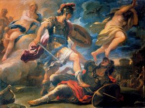 Aeneas and Turnus, by Luca Giordano (17th century)