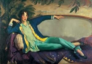 Robert Henri's portrait of Gertrude Vanderbilt Whitney, founder of the Whitney Museum