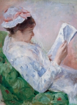 "Mary Cassatt, ""Lydia Reading the Morning Paper"""