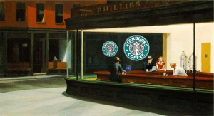 Parody of Edward Hopper's Nighthawks