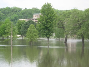 City Park in Iowa City underwater.