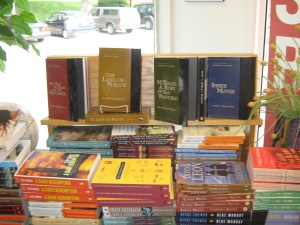 A display at the Bookworm.