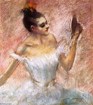 Jean-louis-Forain-Dancer-with-a-Mirror
