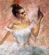 Jean-louis-Forain-Dancer-with-a-Mirror