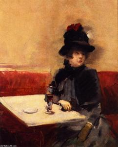 """Jean-Louis Forain, """"Woman in a Cafe"""" (1885)"""
