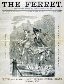 Victorian The Ferrett women bicycling