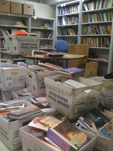 Perhaps book page editors all review the same books because their offices look like this!