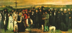 """""""A Burial at Ormans"""" by Gustave Courbet"""