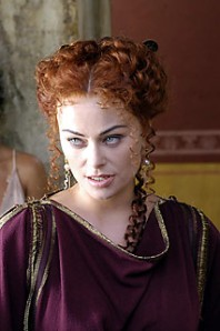 """Atia (Octavian/Augustus' mother) in """"Rome"""" (played by Polly Walker)"""