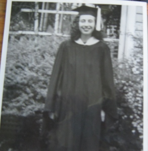Mom. the college graduate.