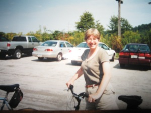 Me biking, the year I broke my arm.