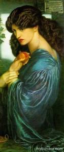 """""""Proserpine"""" by Dante Gabriel Rpssetti"""