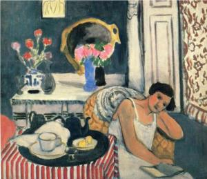 "Matisse, ""Woman Reading with Tea"""