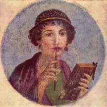 Roman woman writing