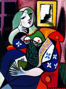 "Picasso, ""Woman with Book"" (1932)"
