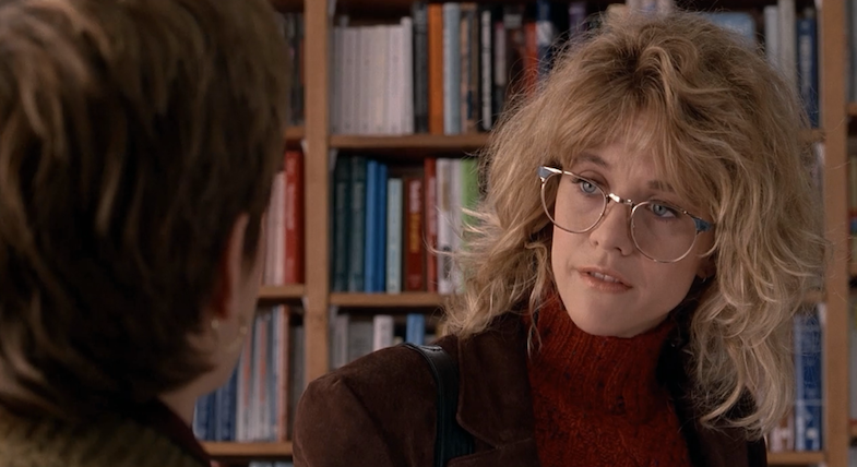 Meg Ryan   s big glasses are adorable in When Harry Met Sally    Meg Ryan When Harry Met Sally Gif