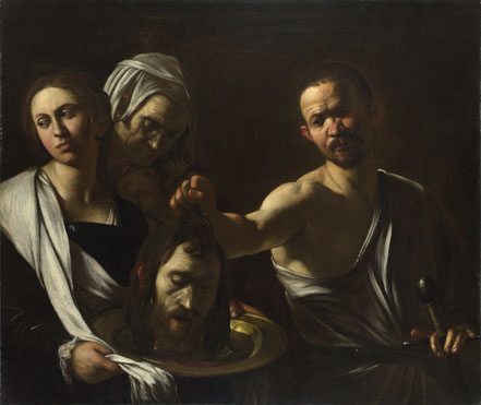"""Salome receives the head of John the Baptist,"" Caravaggio"