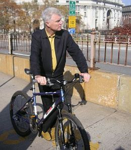 David Byrne on bike