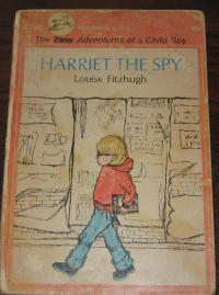 "My original copy of Harriet the Spy.  N.B.  I crossed out ""zany,"" knowing even then it was an insult."