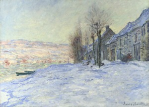 Monet's Lavacourt under Snow