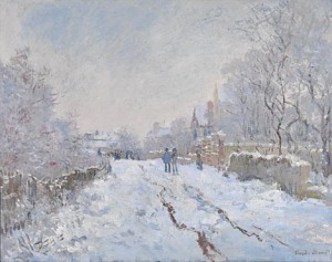 Monet's Snow Scene at Argenteuill