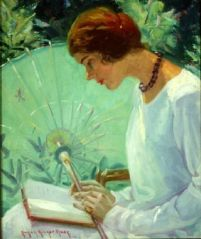 """Reading in the Garden,"" by Susan Ricker Knox"