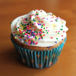An ordinary cupcake.