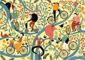 """Spokes and Leaves Full"" by Mia Nilsson"