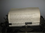Ruth's father's typewriter