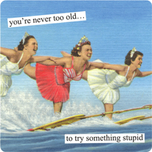you-are-never-too-old to try something stupid anne taintor