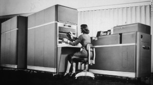 Can you imagine blogging on this?  A desktop computer, 1955.