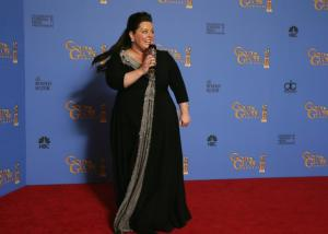 Melissa McCarthy at the Golden Globes Awards