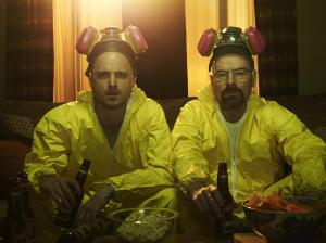 "Jesse and Walt in ""Breaking Bad."""