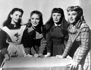 The 1949 Little Women:  Margaret O'Brien, Janet Leigh, June Allyson, & Elizabeth Taylor