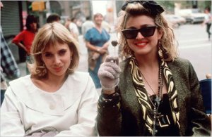 Desperately Seeking Susan, a slightly subversive women's starring Rosanna Arquette and Madonna.