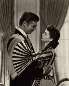 Clark Gable as Rhett Butler and Vivien Leigh as Scarlett O'Hara in 'Gone with the Wind' by Clarence Sinclair Bull