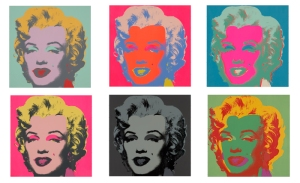 Andy Warhol's portraits of Marilyn Monroe