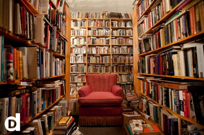 Jackson Street Booksellers, Omaha:  Wouldn't we rather be here than in an e-library?