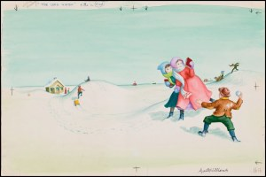 "One of Garth Williams' illustrations for Laura Ingalls Wilder's ""The Long Winter'"