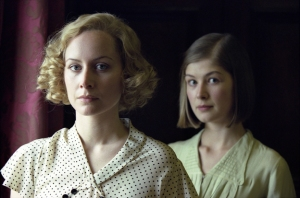 Megan Dodds and Rosamund Pike in the 2001 BBC adaptation of Love In A Cold Climate