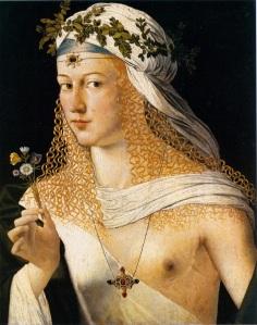 """""""Flora"""" (sitter thought to be Lucrezia Borgia) by Bartolomeo Veneeto"""
