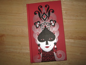 My free Folio Society gift:  a Pushkin's Queen of Spades notebook.