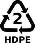 hdpe Plastic Resin Code - 2 HDPE_png