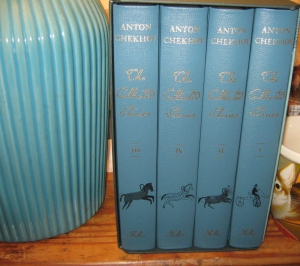 This Folio Society set of The Collected Stories of Chekhov matches my lamp from Target!