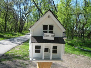 Little Free Library on the bicycle trail