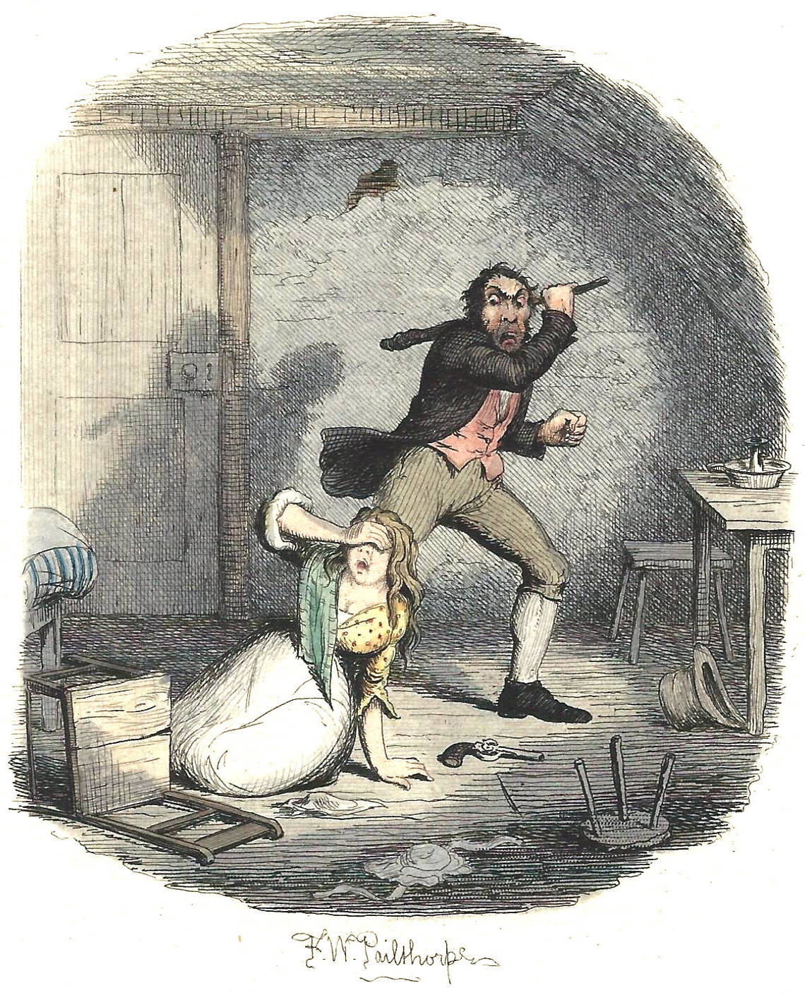 nancy in dickens s oliver twist mirabile dictu illustration of nancy and sikes murder oliver dickens 38