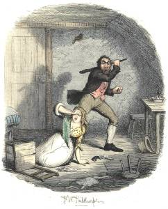 illustration of Nancy and Sikes murder oliver dickens 38