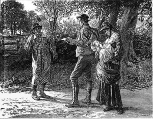 An illustration by Robert Burns from Thomas Hardy's The Mayor of Casterbridge