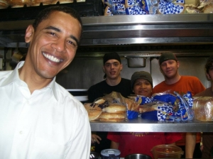President Obama at the Hamburg Inn