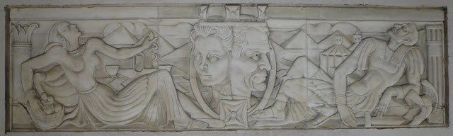 Relief of Antony and Cleopatra by E. Bainbridge Copnall.
